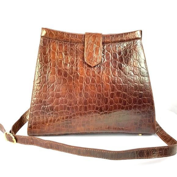Nordstrom Handbags - Vtg Nordstrom Brown Leather Shoulder Bag Purse